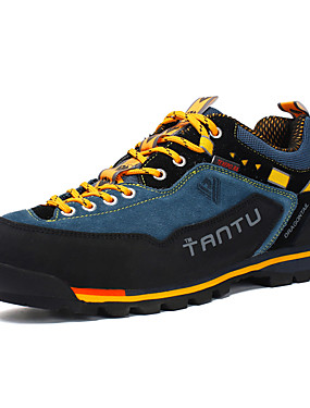 cheap Sports & Outdoors-Men's Hiking Shoes Mountaineer Shoes Anti-Slip Anti-Shake / Damping Cushioning Ventilation Low-Top Outsole Pattern Design Camping / Hiking Hunting Fishing Autumn / Fall Spring & Summer Yellow Red