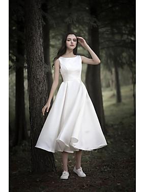 billige Bryllupsbutikken-A-linje Besmykket Telang Sateng med chiffonoverlegg Made-To-Measure Brudekjoler med av LAN TING Express
