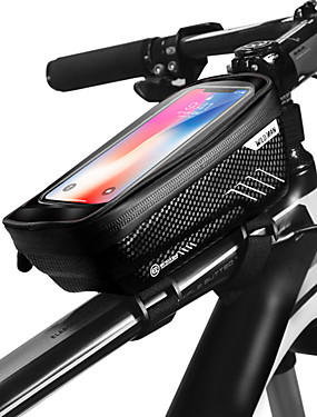 cheap Sports & Outdoors-WILD MAN Cell Phone Bag Bike Frame Bag Top Tube 6.2 inch Touch Screen Waterproof Rainproof Cycling for iPhone 8 Plus / 7 Plus / 6S Plus / 6 Plus iPhone X Black Black-Red Road Bike Mountain Bike MTB