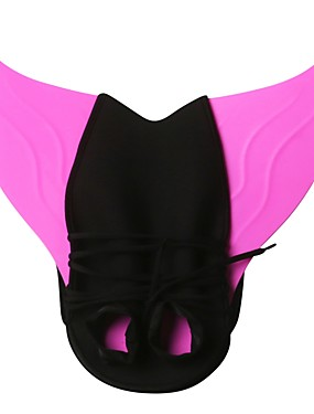 cheap Sports & Outdoors-Swim Fins Mermaid Swimming Diving TPR - for Adults Kids Rose Red Blue