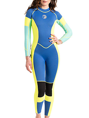 cheap Sports & Outdoors-HISEA® Women's Full Wetsuit 3mm Neoprene Diving Suit Thermal / Warm Long Sleeve Swimming Diving Surfing Patchwork Classic Spring Fall Winter