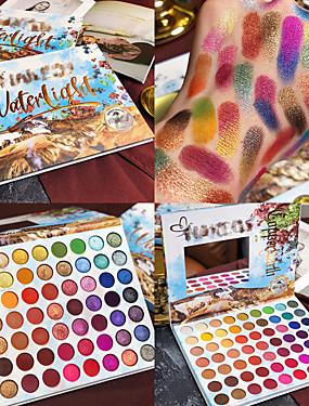preiswerte Make Up For You®-Sommer bunte Lidschatten-Palette 63 Farben matt schimmernd mischbar hell Lidschatten pallete seidig Puder pigmentiert Make-up-Kit