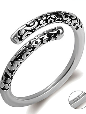 preiswerte Mode Ringe-Personalisiert Angepasst Kubikzirkonia Ring Klassisch Geschenk Versprechen Festival Geometrische Form 1pcs Silber