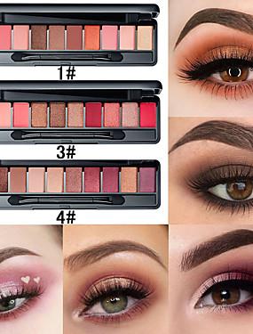 preiswerte Kosmetik für Augen-10 Farben matt Perle mit Pinsel Lidschatten Tablett gesetzt dauerhafte natürliche einfach zu sexy Mode Make-up Lidschatten Tablett färben