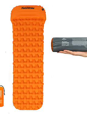 cheap Sports & Outdoors-Naturehike Inflatable Sleeping Pad with Pillow Camping Pad Air Pad Outdoor Camping Portable Moistureproof Ultra Light Easy to Inflate & Deflate Envelope Rectangular 185*54*3 cm TPU Nylon Hiking