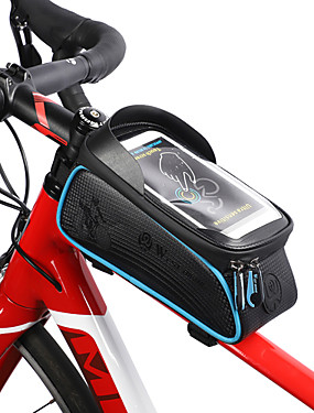 cheap Sports & Outdoors-WEST BIKING® Cell Phone Bag Bike Frame Bag Top Tube 6 inch Touch Screen Reflective Waterproof Cycling for iPhone 8/7/6S/6 Orange Blue Red Outdoor Exercise Cycling / Bike Bike / Cycling