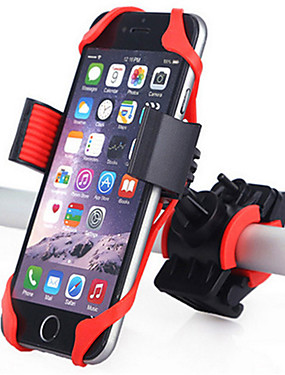 cheap Sports & Outdoors-Bike Phone Mount Adjustable 360°Rolling / Rotatable GPS for Road Bike Mountain Bike MTB Motorcycle Silicon ABS iPhone X iPhone XS iPhone XR Cycling Bicycle Black Red Blue 1 pcs