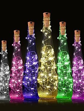 preiswerte Unter 9.9-1pc Weinflaschenverschluss LED-Nachtlicht Warmes Weiß Dekoration / Atmosphäre Lampe