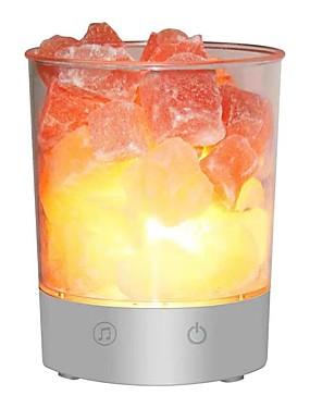 preiswerte Intelligente Elektronik-UFWO-U1Himalayan Crystal Salt Lamp Waterproof Bluetooth Speaker Neuheit Beleuchtung Geschenk Wasserdicht