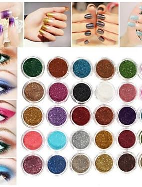 preiswerte Make Up For You®-30 Farben pro Make-up Glitzerpuder Pigment Mineral Flitter Lidschatten Nagel Artrandom Farbe