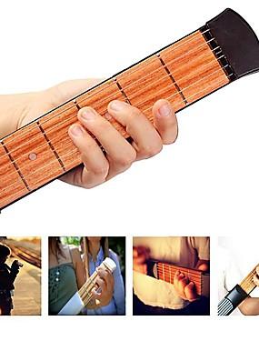 levne Hudební nástroje-Pocket Guitar Kytarový trenažér Chord Practice Tool Přenosná Dřevo-plastové kompozity 6 strings Profesionální hudební nástroj pro začátečníky a mládež