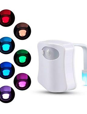 preiswerte Intelligente Elektronik-bewegungssensor toilettensitz nachtlicht 8 farben für toilettenschüssel wc toilettenlicht