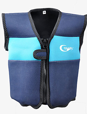 cheap Sports & Outdoors-YON SUB Life Jacket Protective Polyester Swimming Diving Snorkeling Top for Kids