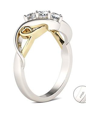 billige Fashion Rings-personlig tilpasset Klar Kubisk Zirkonium Ring Klassisk Gave Love Festival Geometrisk Form 1pcs Sølv
