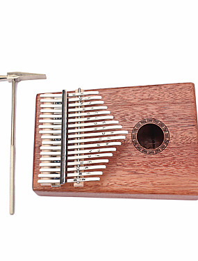 cheap Musical Instruments-Kalimba 17 Key Finger Mbira Sanza Thumb Piano Wood 18.5*13.5*3.2 cm