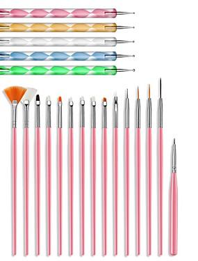 levne Ostatní díly-20ks nářadí na nehty tečkované malování na nehty malování na nehty umělecké štětce gelu malování pero víření mramorování oceli tečkování pero