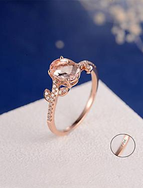 preiswerte Mode Ringe-Personalisiert Angepasst Klar Kubikzirkonia Ring Klassisch Geschenk Versprechen Festival Geometrische Form 1pcs Rotgold