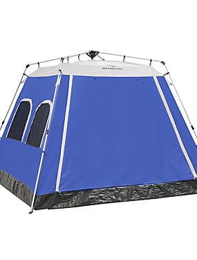 cheap Sports & Outdoors-HUILINGYANG 5 person Family Tent Outdoor Windproof Single Layered Automatic Camping Tent 2000-3000 mm for Camping / Hiking / Caving Terylene 270270200 cm