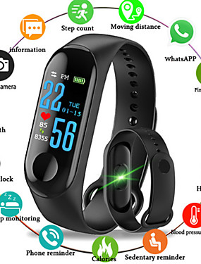 cheap Best for APP-M3 Smart Wristband BT Fitness Tracker Support Notify/ Heart Rate Monitor Waterproof Sport Bluetooth Smartwatch Compatible IOS/Android Phones