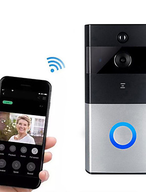 preiswerte Schutz & Sicherheit-hh-d05 720p Smart Home Security Videoüberwachung Wireless Wifi Remote Voice Intercom Telefon Video Smart Day / Night Vision 166 ° Weitwinkel Live View Türklingel