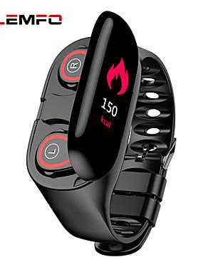 preiswerte BigSave-lemfo m1 smart armband mit tws true wireless earbuds bt fitness tracker unterstützung benachrichtigen & herzfrequenz bunten lcd monitor wasserdichte smartwatch