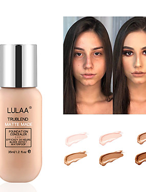 cheap Makeup For Face-35ML Soft Matte Long Wear Foundation Liquid Face Makeup Coverage Foundation Naturally Oil-controlling Lightfeel Cream