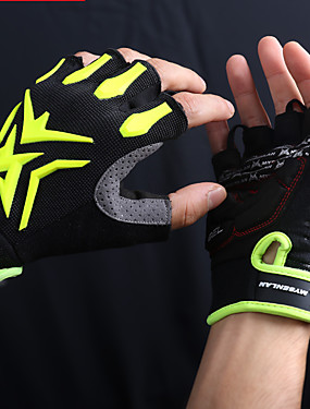 cheap Sports & Outdoors-Mysenlan Bike Gloves / Cycling Gloves Mountain Bike Gloves Mountain Bike MTB Breathable Anti-Slip Sweat-wicking Protective Fingerless Gloves Half Finger Sports Gloves Silicone Gel Terry Cloth Black