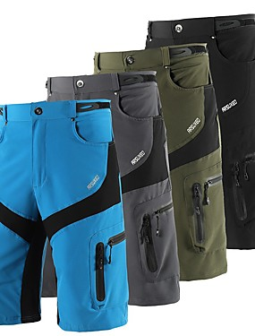 cheap Sports & Outdoors-Arsuxeo Men's Cycling MTB Shorts Bike Shorts Baggy Shorts MTB Shorts Waterproof Breathable Moisture Wicking Sports Solid Color Polyester Spandex Black / Grey / Army Green Mountain Bike MTB Road Bike