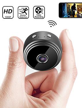 billige Best for APP-nyeste a9 wifi 1080p full hd nattsyn trådløs ip kamera mini kamera dv wifi mikro lite kamera videokamera videospiller utendørs sikkerhetsovervåking fjernovervåkning telefon os android app