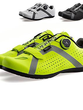 cheap Sports & Outdoors-SANTIC Adults' Road Bike Shoes Breathable Anti-Slip Cushioning Camping / Hiking Riding Cycling / Bike Black Green White Men's Cycling Shoes / Ventilation / Ventilation / Reflective Strips