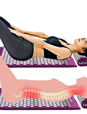 cheap Portable Massager-New Massager Cushion Massage Mat Acupressure Relieve Back Body Pain Spike Mat Acupuncture Massage Yoga Mat and Pillow