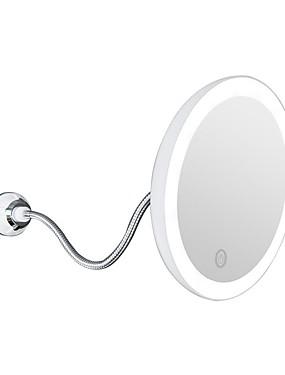 preiswerte Kosmetikspiegel-Flexibler Spiegel mit 10-facher Vergrößerung, 360-Grad-Saugnapf, drehbarer Schminkspiegel mit LED-Licht