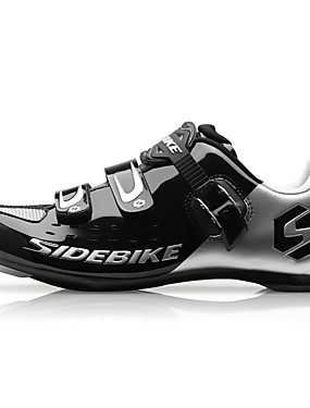 cheap Sports & Outdoors-SIDEBIKE Road Bike Shoes Carbon Fiber Waterproof Breathable Anti-Slip Cycling Black Red Green Men's Cycling Shoes / Cushioning / Ventilation / Synthetic Microfiber PU / Cushioning / Ventilation