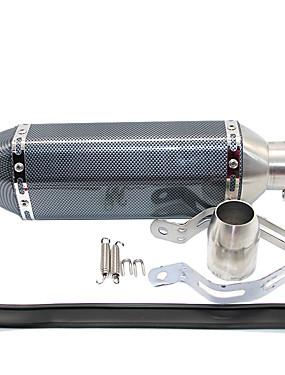 preiswerte Handys & Elektronik-1 Stück 51 mm Motorrad Auspuff Endrohr Tipps Unbent Edelstahl Auspuffschalldämpfer / Gadgets & Autoteile Für Motorräder XA / XB