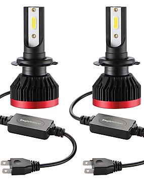 preiswerte Automobil-2 stücke mini led lampe auto scheinwerfer h7 100 watt 20000lm 6000 karat auto scheinwerfer ip67 wasserdicht plug and play perfekte schnelle und einfache installation durch einstecken und ersetzen lage
