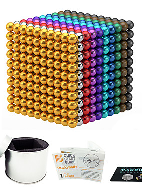 cheap Toys & Hobbies-216 pcs 3mm Magnet Toy Magnetic Balls Building Blocks Super Strong Rare-Earth Magnets Neodymium Magnet Neodymium Magnet Stress and Anxiety Relief Office Desk Toys DIY Kid's / Adults' / Children's