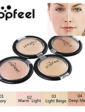 cheap Makeup For Face-Popfeel Monochrome Concealer Foundation Cream Freckles Acne Marks Dark Circles BB Cream Smooth Texture Foundation Makeup
