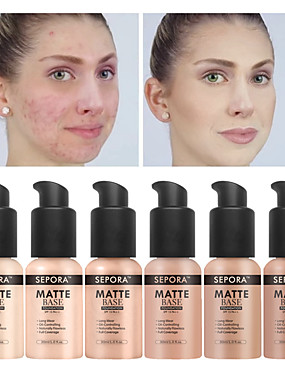 cheap Makeup For Face-SEPORA Makeup Foundation Matte Liquid Foundation New Beauty LongWearing Waterproof Makeup Base Cosmetic Natural Concealer Fluido