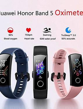 preiswerte Intelligente Elektronik-Huawei Honor Band 5 Smart Armband BT Fitness Tracker Unterstützung benachrichtigen & Pulsmesser Sport Bluetooth Smartwatch kompatibles iPhone / Samsung / LG / Android-Handys