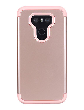 cheap Other Phone Case-Case For LG LG G6 Shockproof Back Cover Solid Colored PC / Silica Gel