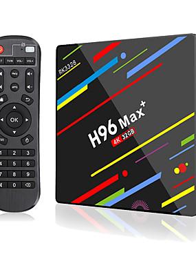 preiswerte Unterhaltungselektronik-h96 max plus smart tv box android 9.0 rk3328 4 karat media player quadcore 4 gb ram 64 gb rom android 8.1 rockchip set top box 2,4 g / 5 g wifi h.265 h96max + tvbox usb3.0 bt