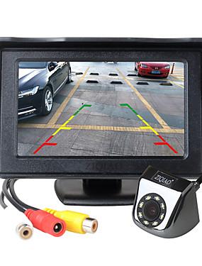 preiswerte Automobil-ziqiao 4,3 zoll tft lcd-bildschirm auto monitor zusatzparken led licht nachtsicht rückfahrkamera kit