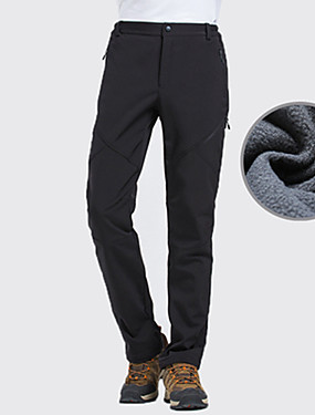 cheap Sports & Outdoors-Men's Hiking Pants Softshell Pants Winter Outdoor Thermal / Warm Waterproof Windproof Breathable Pants / Trousers Bottoms Camping / Hiking Hunting Ski / Snowboard Black Dark Green Gray S M L XL XXL