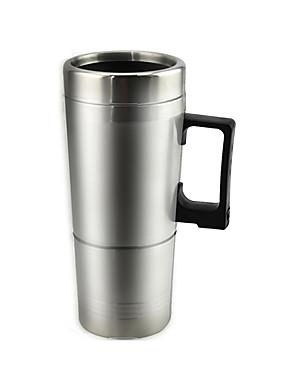 billige Bil liv apparater-300 ml rustfritt stål bil elektrisk kaffetrakter melk oppvarming vannkoker