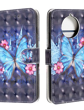 cheap Other Phone Case-Case For Nokia 9 PureView / Nokia 7.1 / Nokia 4.2 Wallet / Card Holder / Flip Full Body Cases Butterfly PU Leather For Nokia 1 Plus/Nokia X71