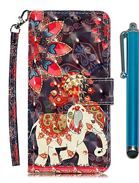 cheap Other Phone Case-Case For LG Stylo 4 / LG Stylo 5 Wallet / Card Holder / with Stand Full Body Cases Phoenix Elephant PU Leather