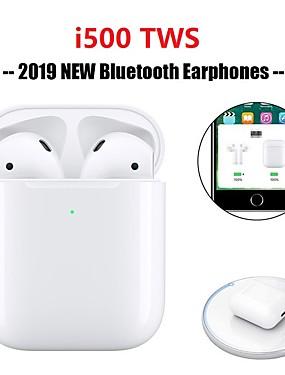 povoljno NewIn-originalni i500 tws pravi bežični ušni ulošci bluetooth 5.0 podrška qi bežično punjenje skočni prozor s ios automatskim uparivanjem mini touch kontrola slušalica sport na otvorenom