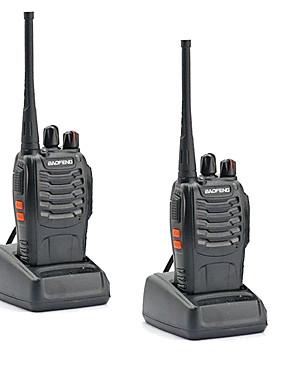 preiswerte Unterhaltungselektronik-2 stücke walkie talkie baofeng bf-888s 16 ch uhf 400-470 mhz baofeng 888s amateurfunk hf transceiver amador tragbare intercoms super klangqualität