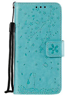 cheap Other Phone Case-Case For Motorola MOTO G6 / Moto G6 Play / Moto G6 Plus Wallet / Card Holder / with Stand Full Body Cases Tree PU Leather
