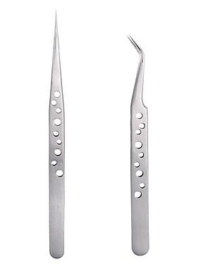 preiswerte Augenbrauen Accessoires-1 stück antimagnetische wimpern pinzette werkzeug superharte antistatische wimpernverlängerung pinzette nagel strass dekorationen picking zange